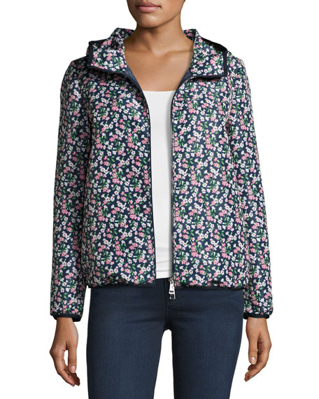 21d479cf1 Vive Floral Hooded Jacket Blue