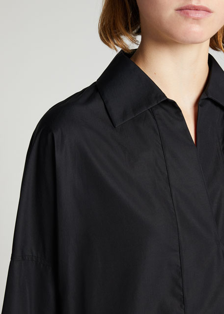 Elements Kimono-Sleeve Blouse, Black