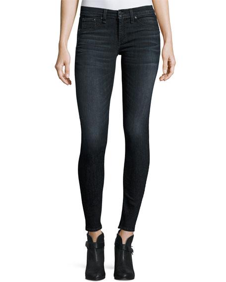 rag & bone/JEAN Classic Skinny Jeans, Black Rae