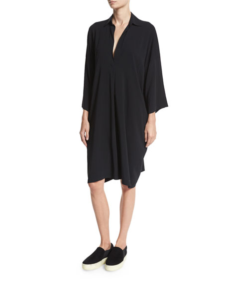 Easy Pullover Dress, Black