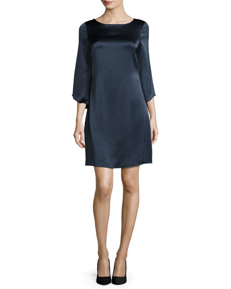 Diane von Furstenberg Korrey Satin Shift Dress, Deep