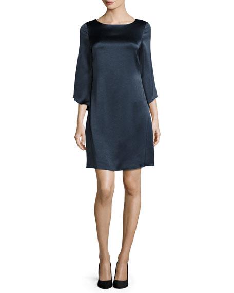Diane von Furstenberg Korrey Satin Shift Dress, Deep