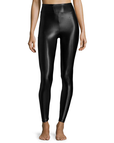 Koral Activewear Lustrous High-Rise Athletic Leggings, Black