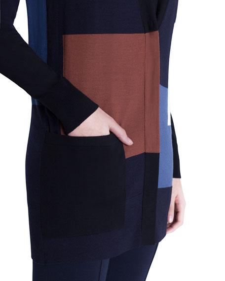 Two-Tone Wool Cardigan