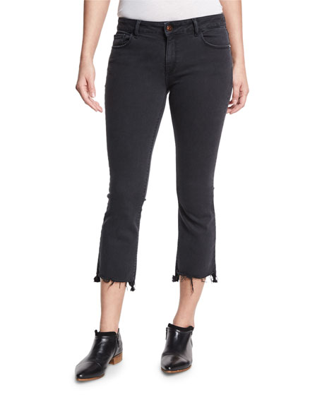 DL1961 Premium Denim Lara Instasculpt Cropped Flare-Leg Jeans,