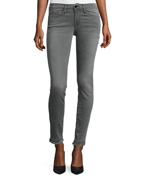 FRAME Le Skinny de Jeanne Double Raw-Hem Jeans,