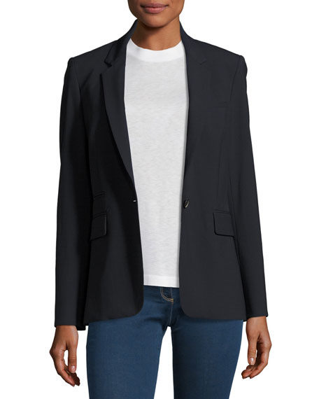 Veronica Beard Classic Stretch Crepe Jacket, Navy