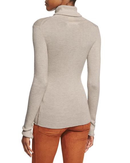 Roberta Long-Sleeve Ribbed Wool Sweater