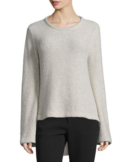 Co Long-Sleeve High-Low Sweater, Hazel