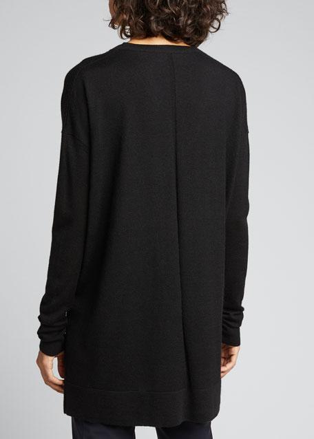 11e0c573991c8 THE ROW Amherst Long-Sleeve Oversized V-Neck Sweater