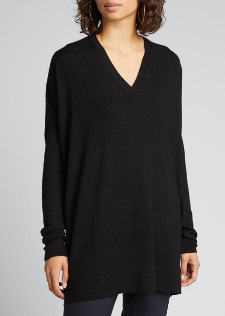 Amherst Long-Sleeve Oversized V-Neck Sweater