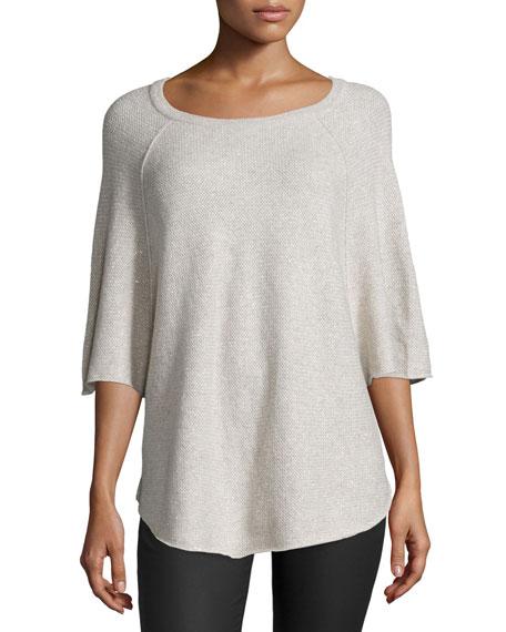 Jolena C Cashmere-Blend Sweater