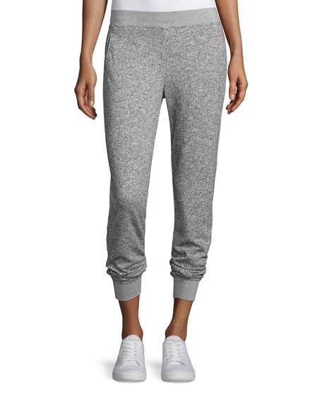 Straight-Leg Sparkle Sweatpants, Gray
