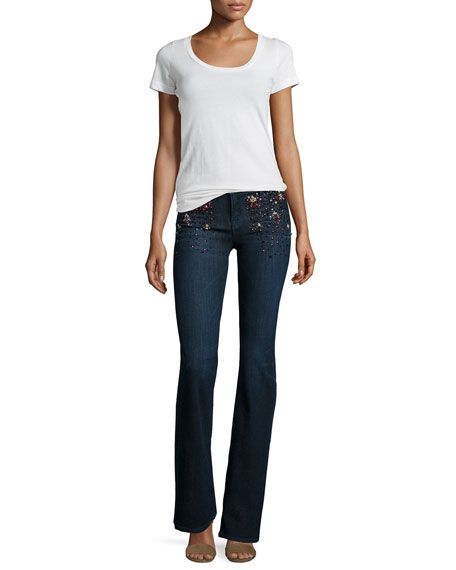 Charlotte Embellished Boot-Cut Jeans, Intuitive