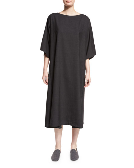 Boat-Neck T-Shirt Dress