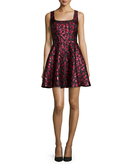 Diane von Furstenberg Sleeveless Minnie Midnight Kiss A-Line