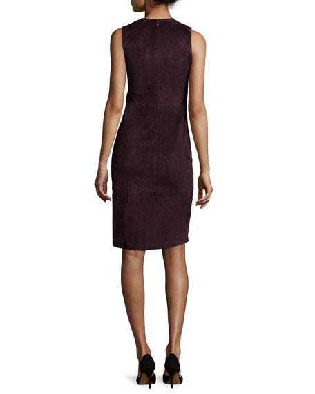 Eano L Classic Suede Sheath Dress