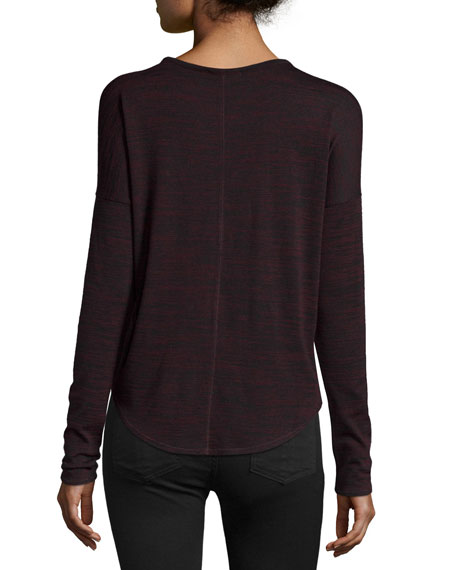 Hudson Heathered Long-Sleeve T-Shirt