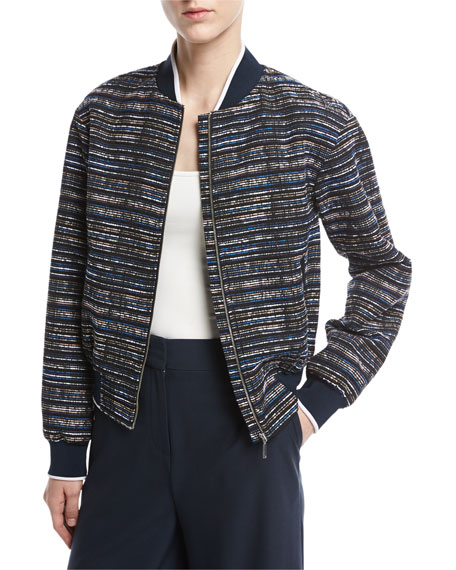 GREY by Jason Wu Scribble Tweed Bomber Jacket,