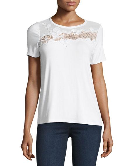 Natasha Floral Appliqué T-Shirt