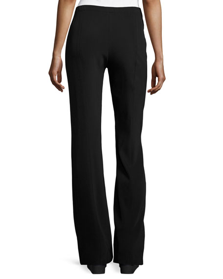 Fluid Stretch-Crepe Pants, Black