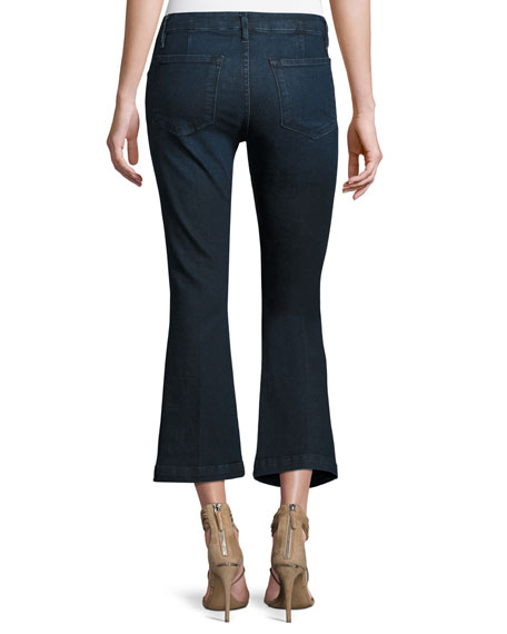 Le Crop Mini Boot-Cut Lace-Up Jeans, Hayworth