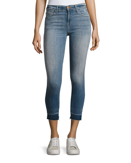 J Brand 835 Mid-Rise Cropped Skinny Jeans, Light
