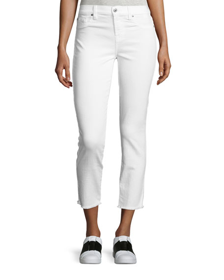 7 For All Mankind Roxanne Raw-Edge Ankle Skinny
