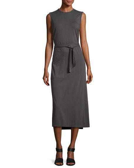 Sunny Sleeveless Jersey Wrap Tank Dress
