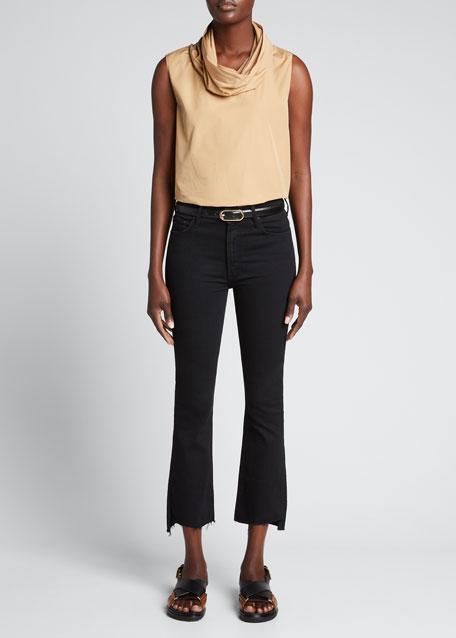 Mother Denim Insider Crop Step Fray Jeans, Not