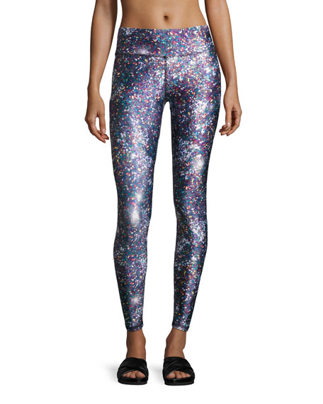 Night Sparkle Tall-Band Performance Leggings, Multicolor