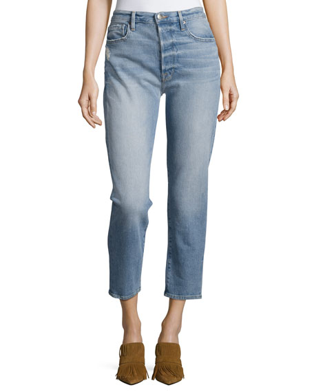 FRAME Le Original Cropped Straight Jeans, Jones