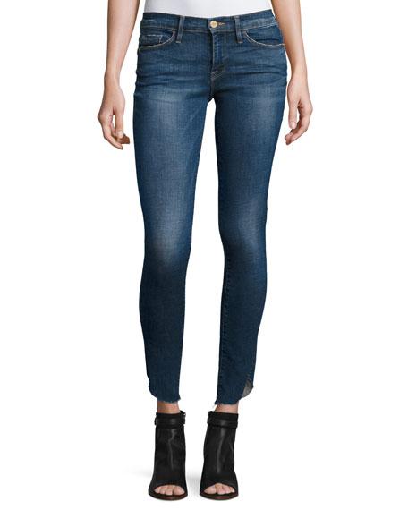 Le Skinny de Jeanne Jeans with Tulip Hem, York