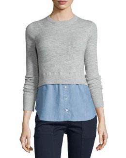Cati Wool Shirttail Combo Sweater