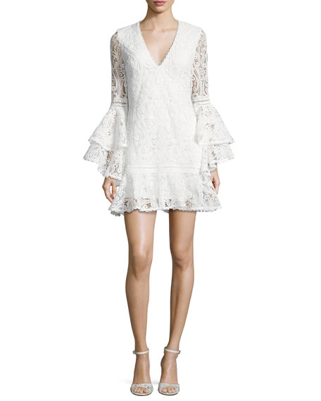 Alexis Veronique Lace Shift Dress, White