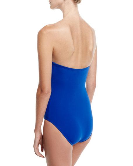 Jetset Wrap-Front Bandeau One-Piece Swimsuit