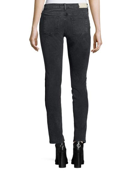 Biba Side-Snap Skinny Jeans, Black