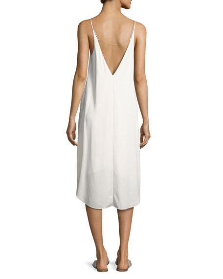 Sleeveless Stretch Crepe Midi Dress