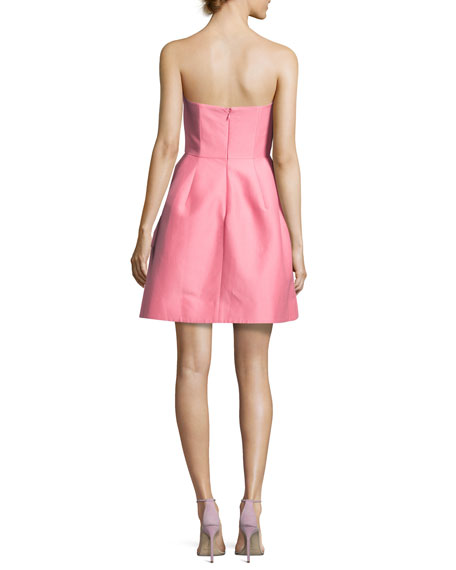Strapless Structured Faille Cocktail Dress