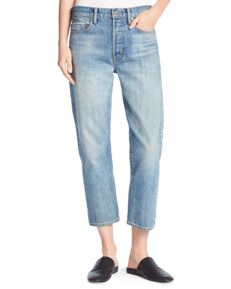 Union Slouchy Denim Jeans, Mid Wash
