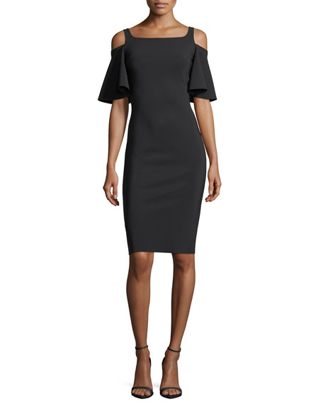 Lupe Cold-Shoulder Jersey Cocktail Dress