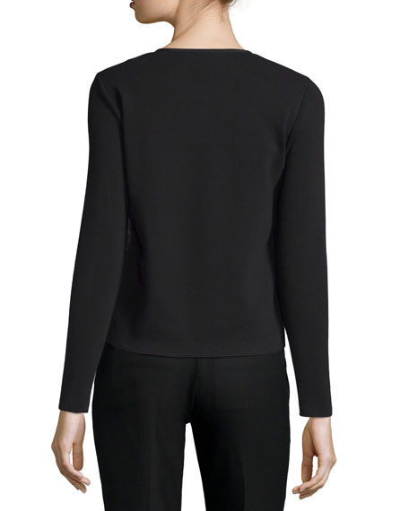 Puffer Knit Combo Cardigan