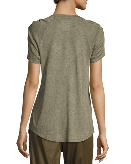 Remy Ruched Short-Sleeve Tee