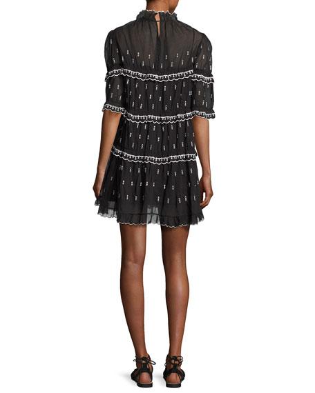 Lyin Colorblock Midi Dress, Black