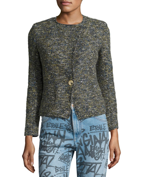 Orson Single-Button Tweed Jacket