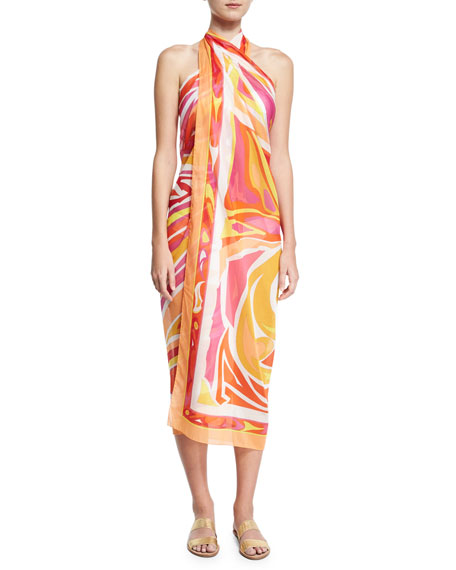 Lance Voile Pareo Coverup, Multi