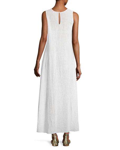 Becky Cotton Gauze Maxi Dress, White