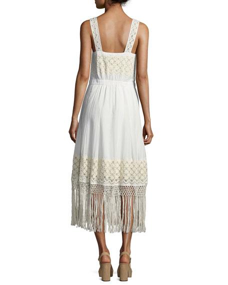 Eve Eyelet Cotton Maxi Dress, White