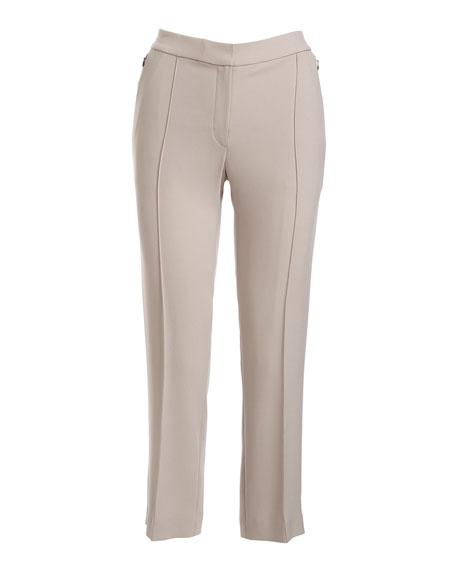 Lisa Fluid Crepe Cropped Pants