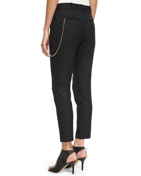 Checkerboard Jacquard Skater Pants, Onyx